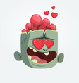 cartoon zombie in love vector image vector image