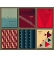 collection universal cards templates vector image