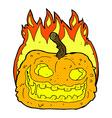 comic cartoon spooky pumpkin vector image