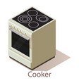 cooker icon isometric style vector image