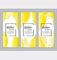 creative fluid style poster set dynamic shapes on vector image vector image
