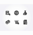 credit card cash and dollar icons document vector image