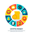 crypto money concept vector image vector image