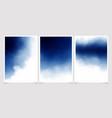 dark blue watercolor background for wedding vector image vector image