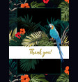dark tropical design with exotic monstera vector image vector image