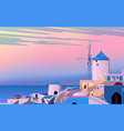 dawn in old town vector image