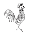 Decorative abstract ornate rooster drawing vector image