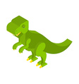 Dinosaur Tyrannosaurus isometric Prehistoric vector image vector image