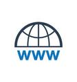 domain registration icon vector image vector image
