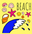 doodle about the beach vector image vector image