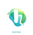 ecology lowercase letter h logo overlapping vector image vector image