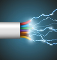 electrical discharge Stock vector image vector image