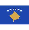 Flag of Kosovo vector image vector image
