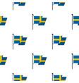 flag of sweden pattern flat vector image vector image