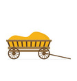flat of wooden cart vector image