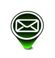 glossy email icon vector image vector image