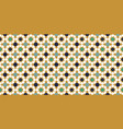 gold and blue moroccan motif tile pattern vector image