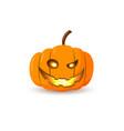 halloween pumpkin icon autumn symbol 3d design vector image