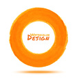Hand drawn watercolor orange circle design element vector image