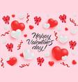 happy valentines day congratulation banner vector image