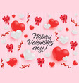 happy valentines day congratulation banner with vector image vector image