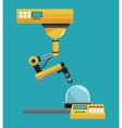 industrial robot arm working vector image vector image