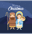joseph and mery with jesus to happy epiphany vector image vector image