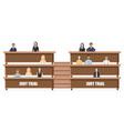 jury trial flat style law order brochure vector image