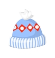 knitted winter hat isolated on white vector image vector image