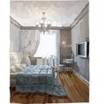 Luxury bedroom interior vector image