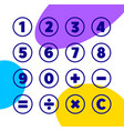 numbers and mathematical symbols icons vector image