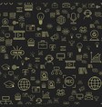 outline online education seamless pattern staff vector image vector image