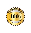 Premium quality 100 percent golden label icon vector image