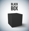 Realistic Black Box isolated vector image