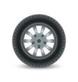 realistic car wheel tyre vector image vector image