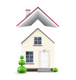 realistic house with flying roof vector image vector image