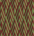 Retro fold green and brown striped diamonds vector image