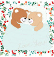 seamless adorable cute pretty cherry and teddy vector image