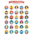 Set of Men and Women Avatars Icons Colorful Male vector image