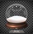 snow globe on transparent background merry vector image vector image