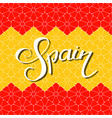 spain hand lettering vector image vector image