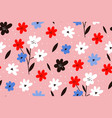spring flower background modern seamless pattern vector image