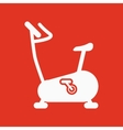 The exercise bike icon Exercycle symbol Flat vector image vector image