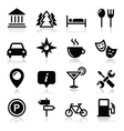 Travel tourism icons set vector image vector image