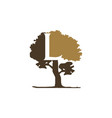 tree letter l vector image vector image