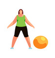 woman doing fitness exercise isolated vector image