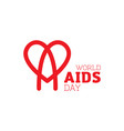 world heart day icon design brush style red heart vector image