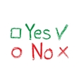 Yes No check boxes vector image