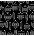 Black and White Seamless Christmas Pattern vector image