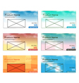 colorful modern text box template vector image